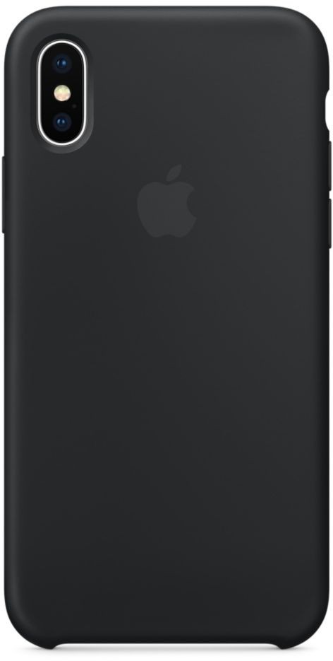 Apple Silicone Case for iPhone X, Black