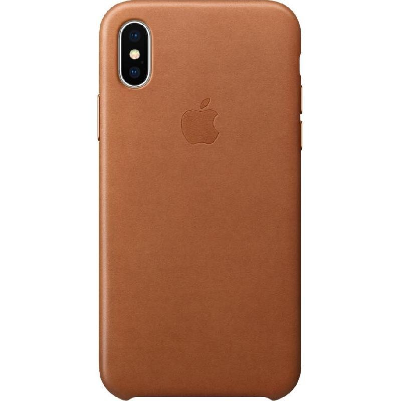 Apple Leather Case for iPhone X, Saddle Brown
