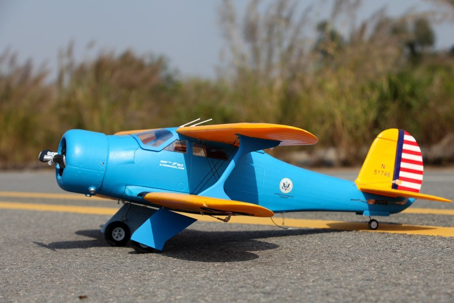 Airplanes, FMS 1100MM STAGGERWING-BLUE PNP