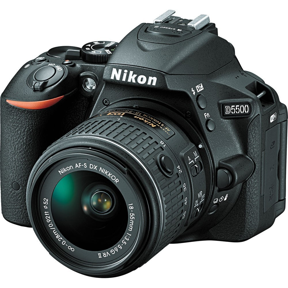 Nikon D5500 DSLR Camera with 18-55mm Lens + Nikon Tumbler + Bag + 16GB Memory Card (VBK440XM)
