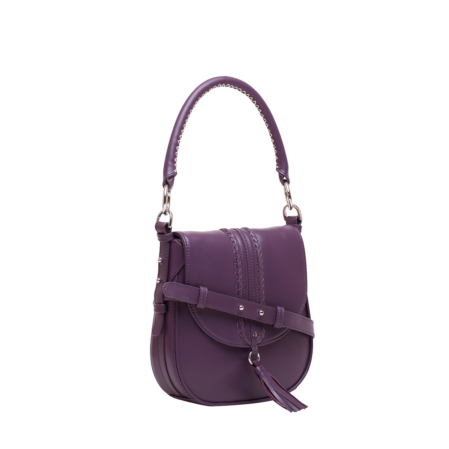 Aubergine Acuir Handbag For Women Cross Body