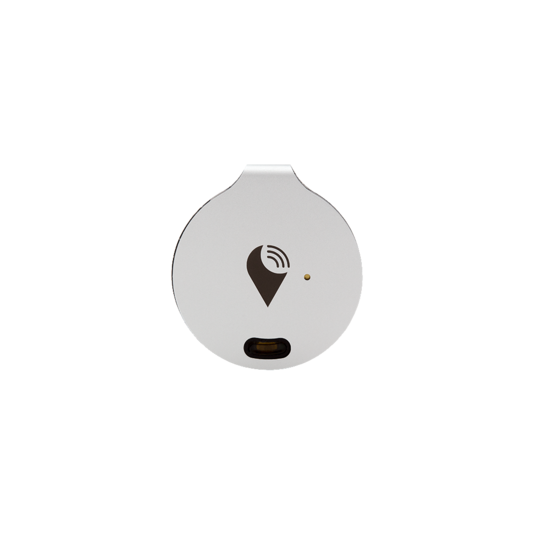TrackR, Bravo, Silver color.