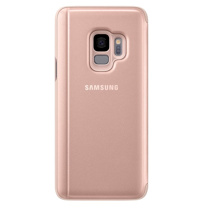 Galaxy S9 Clear View Standing Cover, Gold (EF-ZG960CFEGWW)