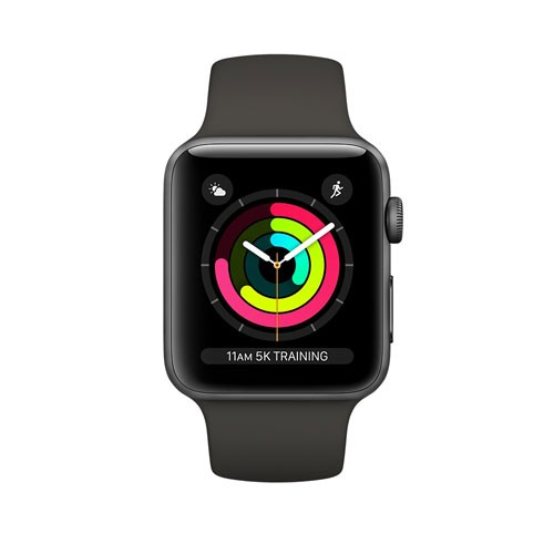Apple Watch Series 3 GPS, 42 mm Space Gray Aluminum, Sport Band, Gray