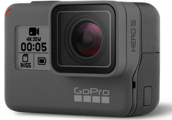 GoPro Hero5 Black 4K Ultra HD Camera (G02CHDHX-501) + Free GoPro Remo Voice Control Remote & Sandisk 32GB Micro SD Card