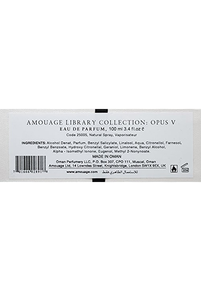 Amouage The Library Collection Opus V For Men, 100 ml, EDP