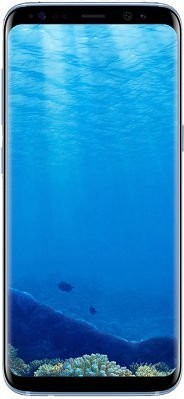 Samsung Galaxy S8  Dual Sim, 64 GB,Blue + Samsung Level U Bluetooth